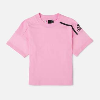 adidas Young Girls' ZNE Short Sleeve T-Shirt