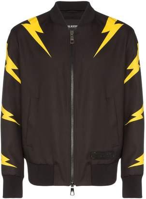 Neil Barrett Lightning Bolt print bomber jacket