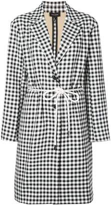 Robert Rodriguez Studio gingham single breasted coat