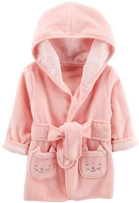 Carter's Baby Girl Hooded Cat Robe