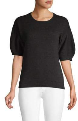 Laundry by Shelli Segal Elbow-Length Puff-Sleeve Sweater