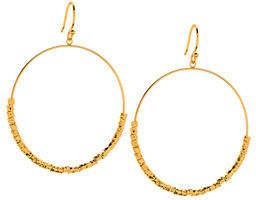 Gorjana Laguna Drop Hoop Earrings