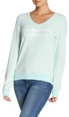Wildfox Couture Beach Bums V-Neck Sweatshirt