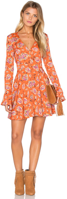 J.O.A. Long Sleeve V Neck Floral Dress $95 thestylecure.com
