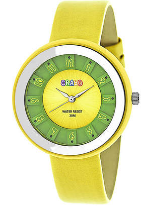 Crayo Unisex Yellow Strap Watch-Cracr3403