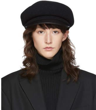 Y's Ys Black Wool Beret Cap
