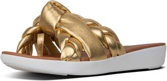 FitFlop Braid Metallic Leather Toe-Thongs