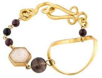 Stephanie Kantis Smoky Quartz, Garnet & Onyx Organic Bracelet
