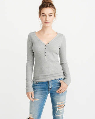 Abercrombie & Fitch Ribbed Henley
