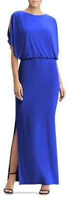 Ralph Lauren Cold-Shoulder Jersey Gown
