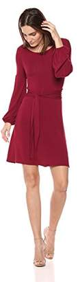 BCBGMAXAZRIA Azria Women's Tie Front A-Line Jersey Dress