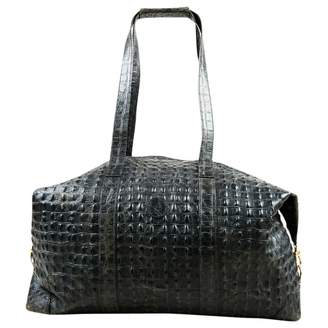 Fendi Black Crocodile Travel Bag