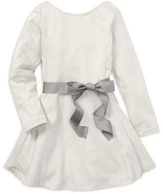 Ralph Lauren Girls' Shimmer Jersey Dress with Sash - Little Kid