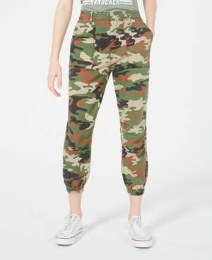 Love, Fire Love Fire Juniors' Tan Camo Slim Utility Pants