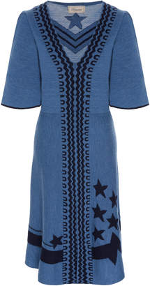 Temperley London Loren Embroidered Wool Dress