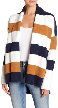 Fate Colorblcok Stripe Shawl Color Sweater