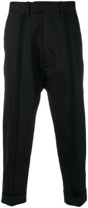 Diesel Black Gold front pleat cropped trousers