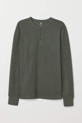H&M Henley Shirt - Green