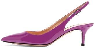 Eldof Slingbacks Pumps for Women,Low Kitten Heels Comfortable Pointy Toe Pumps Shoes US6.5