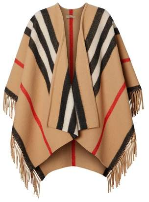 Burberry Striped Wool Cape