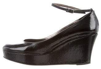Barneys New York Barney's New York Patent Leather Wedge Pumps