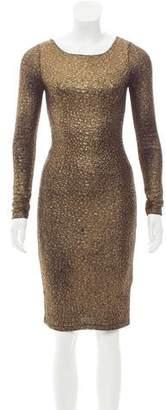 Alice + Olivia Metallic Bodycon Dress