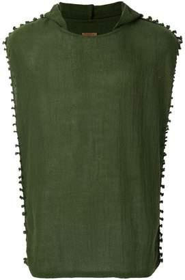 Caravana hooded sheer vest