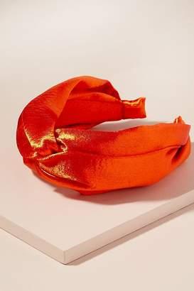 Twisted-Knot Satin Headband