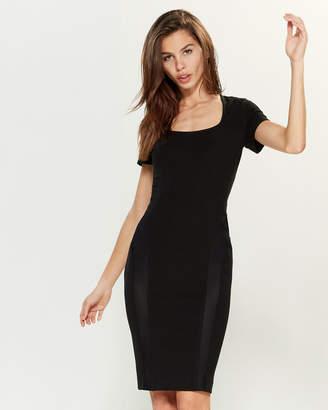 Versace Black Short Sleeve Sheath Dress