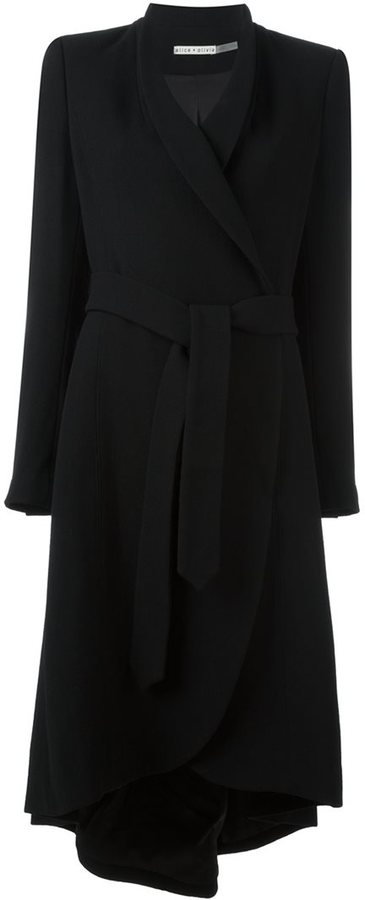 Alice + OliviaAlice+Olivia asymmetrical belted coat