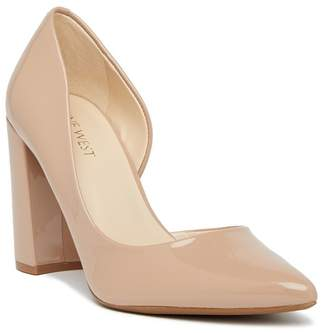 Nine West Anisa d'Orsay Block Heel Pump - Wide Width Available