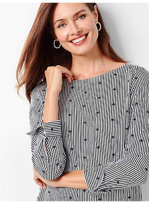 Talbots Stripe-Dot Tunic