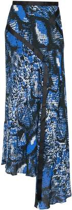 House of Holland snake-print chiffon skirt