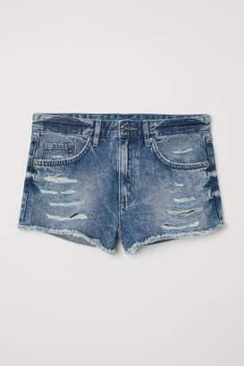 H&M Denim Shorts Skinny Regular - Blue