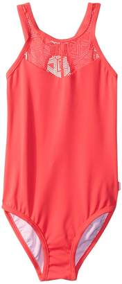 Seafolly Summer Essentials High Neck Tank One-Piece Girl's Swimsuits One Piece