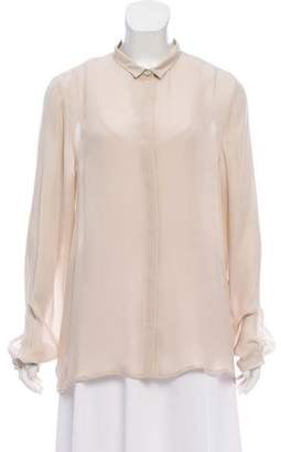 Eleventy Silk Button-Up Top w/ Tags
