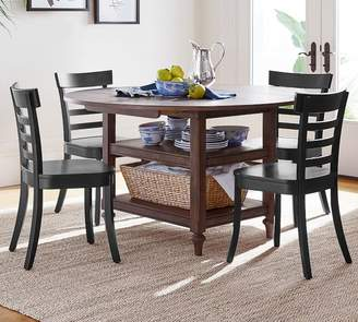 Pottery Barn Shayne Drop-Leaf Kitchen Table, Salvaged Black
