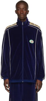Gucci Navy Zipover Jacket