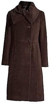 Sofia Cashmere Women's Envelope Collar Doubleface A-Line Coat