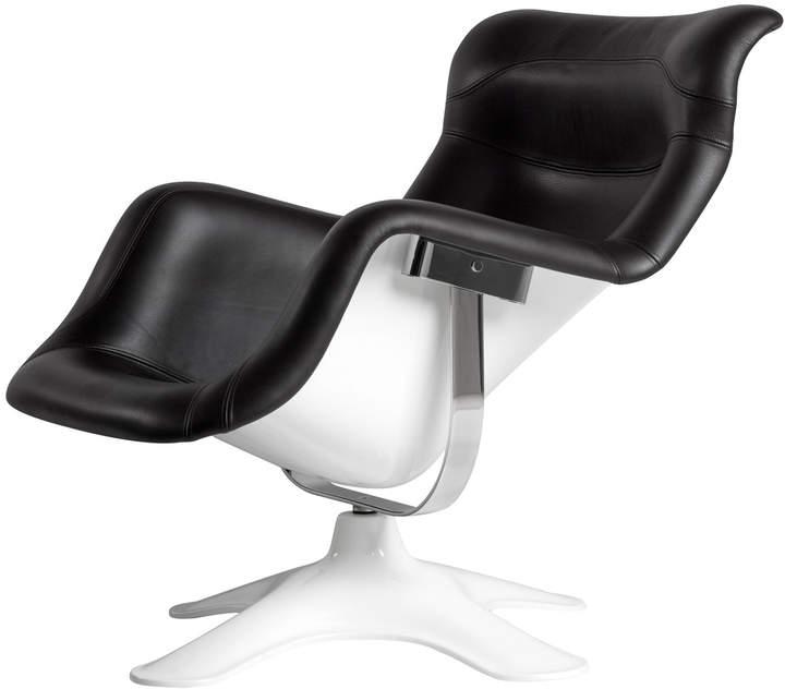 Karuselli Lounge Chair, schwarz / weiß