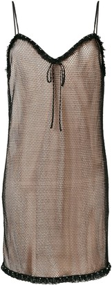Miu Miu layered mesh cami dress