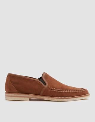 Hudson London Tangier Suede Shoe in Tan