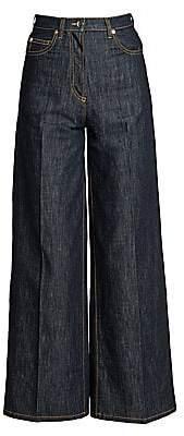 Valentino Women's Chambray Wide-Leg Jeans