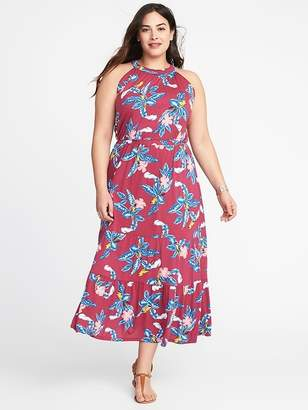 Old Navy Waist-Defined Halter Plus-Size Tiered Maxi