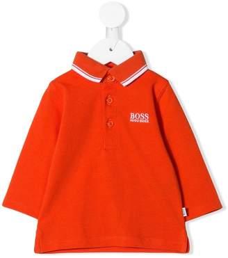 Boss Kids stripe trim polo shirt