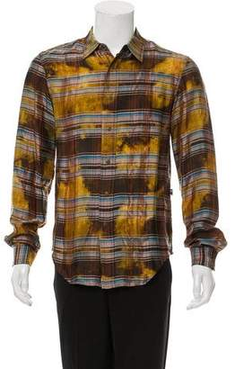 Jean Paul Gaultier Plaid Snap-Front Shirt w/ Tags