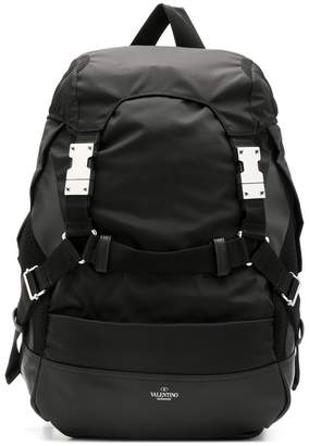Valentino buckled strap backpack