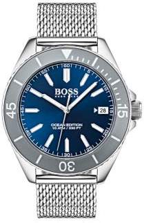 HUGO BOSS Ocean Edition Stainless Steel Mesh Bracelet Watch