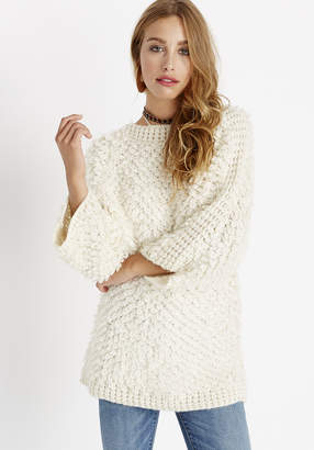 Buffalo David Bitton STITCH MIXED DOLMAN SWEATER