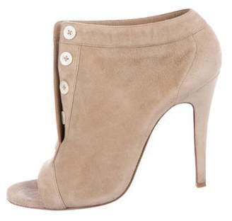 76ed39c66b2 Pre-Owned at TheRealReal · Christian Louboutin Maotic 100 Peep-Toe Booties